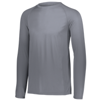 Augusta Sportswear Team Attain Wicking Long Sleeve T-shirt - Boys' Grade School - Grey