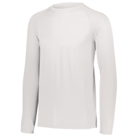 Augusta Sportswear Team Attain Wicking Long Sleeve T-shirt - Boys' Grade School - All White / White