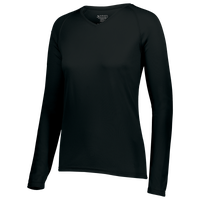 Augusta Sportswear Team Attain Wicking Long Sleeve T-shirt - Women's - All Black / Black