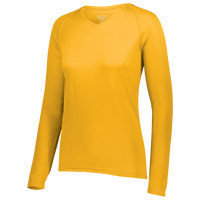 Augusta Sportswear Team Attain Wicking Long Sleeve T-shirt - Women's - Gold