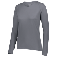 Augusta Sportswear Team Attain Wicking Long Sleeve T-shirt - Women's - Grey
