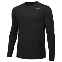 Nike Team Legend Long Sleeve Poly Top - Men's - All Black / Black