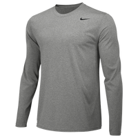Nike Team Legend Long Sleeve Poly Top - Men's - Grey / Grey