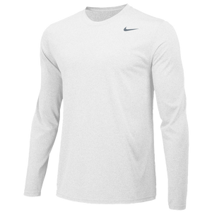 Nike Team Legend Long Sleeve Poly Top - Men's - White/Cool Grey