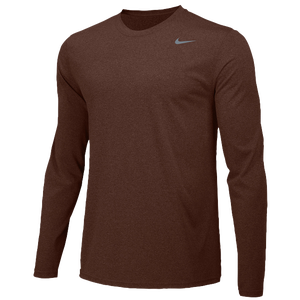 Nike Team Legend Long Sleeve Poly Top - Men's - Dark Cinder/Cool Grey