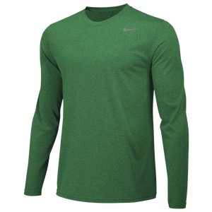 Nike Team Legend Long Sleeve Poly Top - Men's - Apple Green/Cool Grey