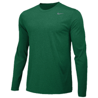 Nike Team Legend Long Sleeve Poly Top - Men's - Dark Green / Dark Green
