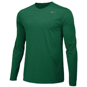 Nike Team Legend Long Sleeve Poly Top - Men's - Gorge Green/Cool Grey