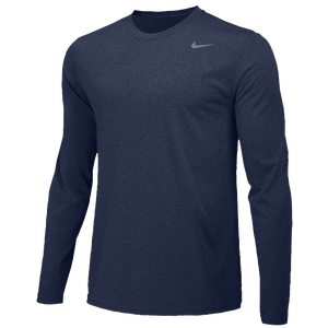 Nike Team Legend Long Sleeve Poly Top - Men's - College Navy/Cool Grey