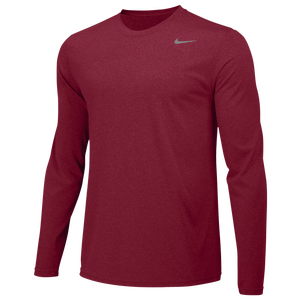 Nike Team Legend Long Sleeve Poly Top - Men's - Team Crimson/Cool Grey