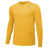 Nike Team Legend Long Sleeve Poly Top - Men's - Yellow / Yellow