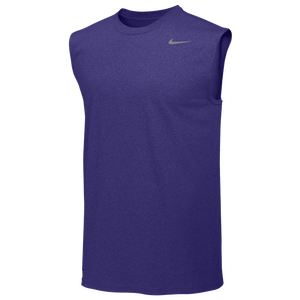 Nike Team Legend Sleeveless Poly Top - Men's - Court Purple/Cool Grey