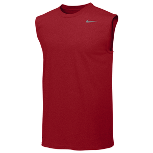 Nike Team Legend Sleeveless Poly Top - Men's - University Red/Cool Grey