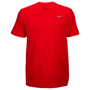 Nike Team Legend Short Sleeve Poly Top - Men's - University Red/Cool Grey