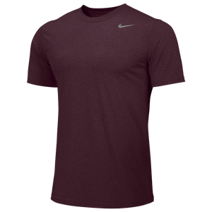 Nike Team Legend Short Sleeve Poly Top - Men's - Deep Maroon/Cool Grey