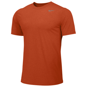 Nike Team Legend Short Sleeve Poly Top - Men's - University Orange/Cool Grey