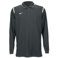 Nike Team Gameday Polo L/S - Men's - Grey / White