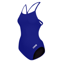 Arena Master Thin Strap Open Racerback Swimsuit - Women's - Blue / Silver