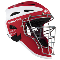 Rawlings Velo Two-Tone Catcher's Helmet - Red / White