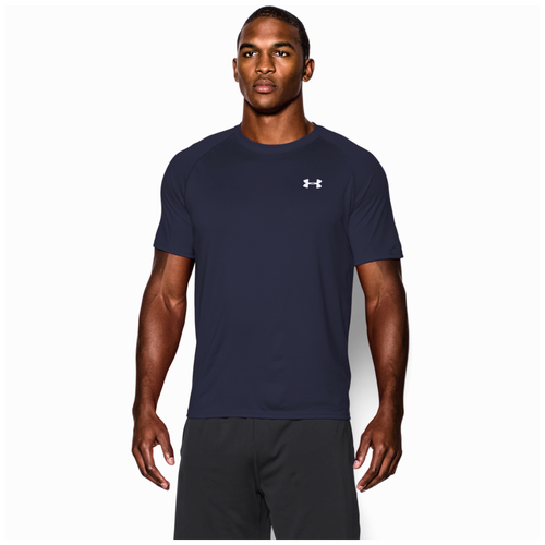 Under Armour HeatGear Tech Short Sleeve T-Shirt - Men's - Training -  Clothing - Midnight Navy/White