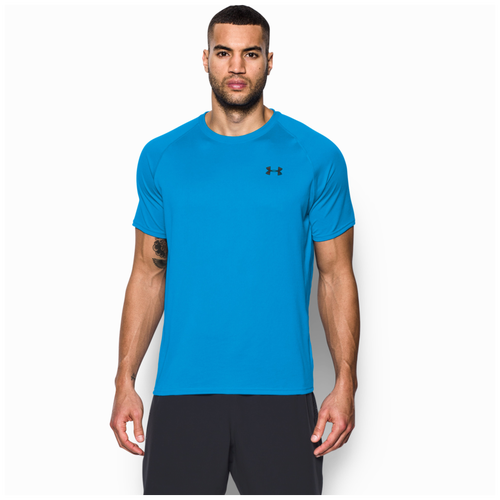 15a6457a3402 Under Armour HeatGear Tech Short Sleeve T-Shirt - Men s - Training -  Clothing - Elemental Blue