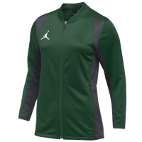 Jordan Team Basketball Flight Knit Jacket - Women's - Dark Green / Grey