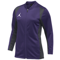 Jordan Team Basketball Flight Knit Jacket - Women's - Purple / Grey
