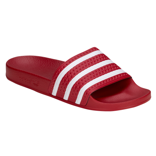 adidas Originals Adilette - Men's - Casual - Shoes - Scarlet/White/Scarlet