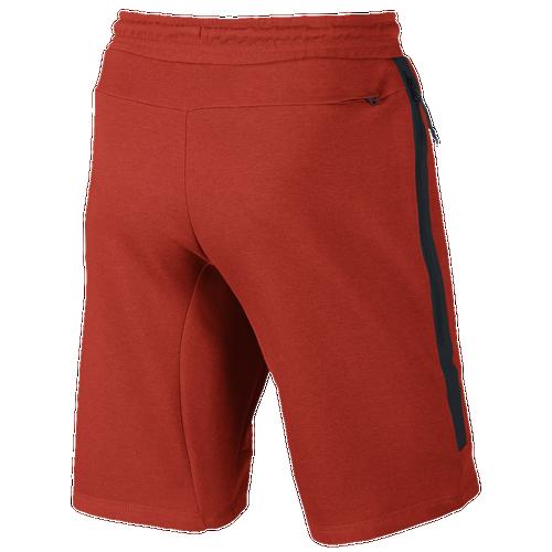 Nike Tech Fleece Shorts - Men's - Casual - Clothing - Light Crimson/Black