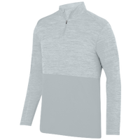 Augusta Sportswear Team Heather 1/4 Zip Pullover - Men's - Silver / Silver