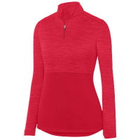 Augusta Sportswear Team Heather 1/4 Zip Pullover - Women's - Red / Red