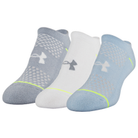 Under Armour Phenom 3 Pack No Show Socks - Women's - White / Grey