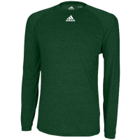 adidas Team Climalite Long Sleeve T-Shirt - Men's - Dark Green / Dark Green