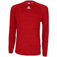 adidas Team Climalite Long Sleeve T-Shirt - Men's - Red / Red