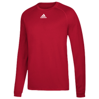 adidas Team Climalite Long Sleeve T-Shirt - Men's - Red