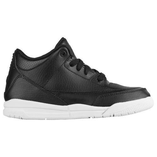 Jordan Retro 3 - Boys\u0027 Preschool - Basketball - Shoes - Black/Black/White