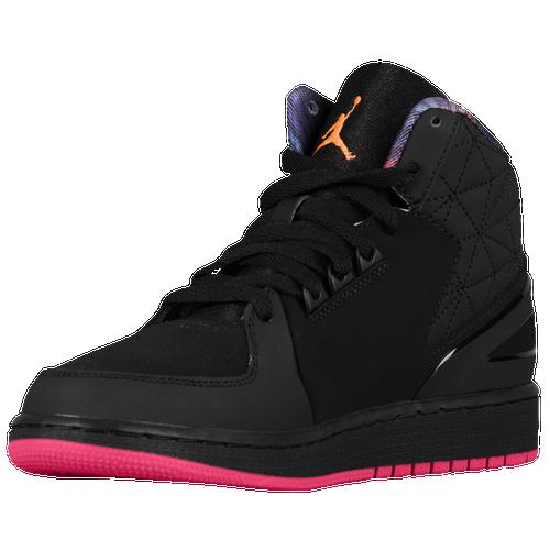 Inexpensive Basketball Shoes Womens Jordan 1 Flight 3 Black/Bright Citrus/Fireberry