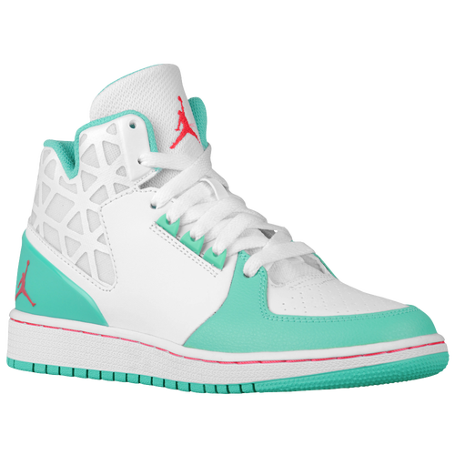 Jordan 1 Flight 3 - Girls' Grade School - Basketball - Shoes - White/Infrared  23/Verde