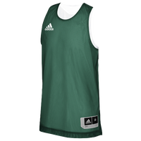 adidas Team Crazy Explosive Reversible Jersey - Boys' Grade School - Dark Green / White