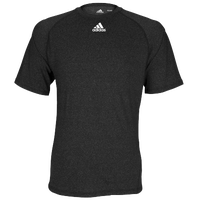 adidas Team Climalite Short Sleeve T-Shirt - Men's - All Black / Black