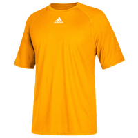 adidas Team Climalite Short Sleeve T-Shirt - Men's - Gold / Gold