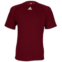 adidas Team Climalite Short Sleeve T-Shirt - Men's - Maroon / Maroon