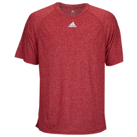 adidas Team Climalite Short Sleeve T-Shirt - Men's - Red / Red
