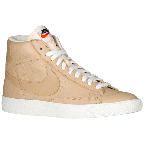 nike blazer mid mens basketball shoes linengum light brownsummit white