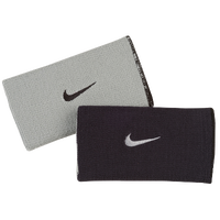 Nike Dri-Fit Home & Away Doublewide Wristbands - Men's - Black / Grey