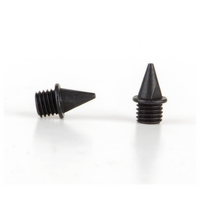 Omni-Lite 7mm Pyramid Spikes 20 Count Package - All Black / Black