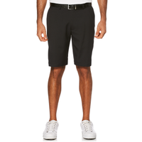 PGA Tour Expandable Waistband Flat Front Shorts - Men's - All Black / Black
