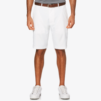 PGA Tour Expandable Waistband Flat Front Shorts - Men's - All White / White