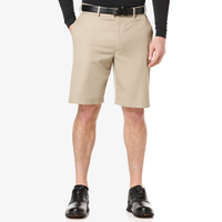 PGA Tour Expandable Waistband Flat Front Shorts - Men's - Tan