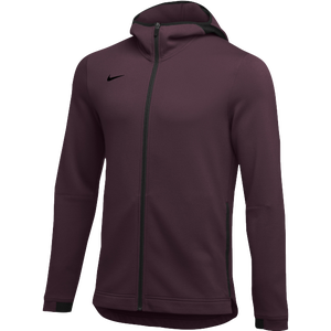 Nike Team Dry Showtime Full-Zip Hoodie - Men's - Dark Maroon/Black